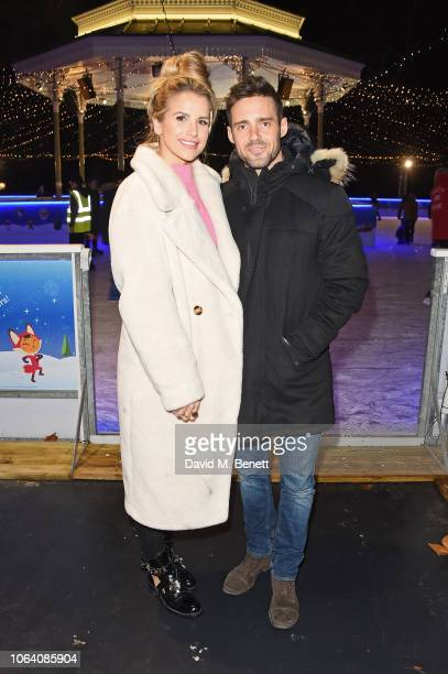 Vogue Williams and Spencer Matthews attend the VIP preview night for Hyde Park Winter Wonderland on November 21 2018 in London England
