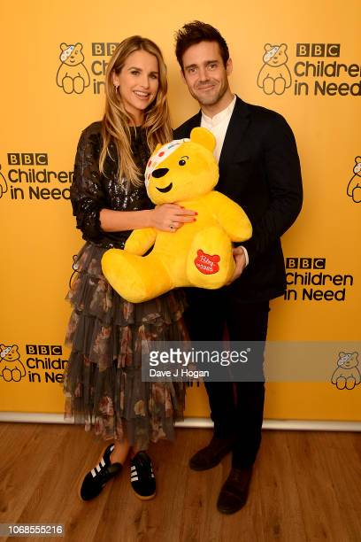 Vogue Williams and Spencer Matthews backstage at BBC Children In Need's 2018 appeal night at Elstree Studios on November 16 2018 in Borehamwood...