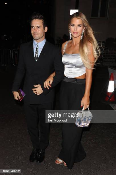 Vogue Williams and Spencer Matthews seen arriving at the Pride of Britain Awards at the Grosvenor Hotel on October 29 2018 in London England