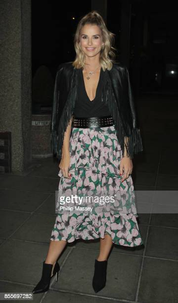 Vogue Williams appears on the Late Late Show on September 29 2017 in Dublin Ireland