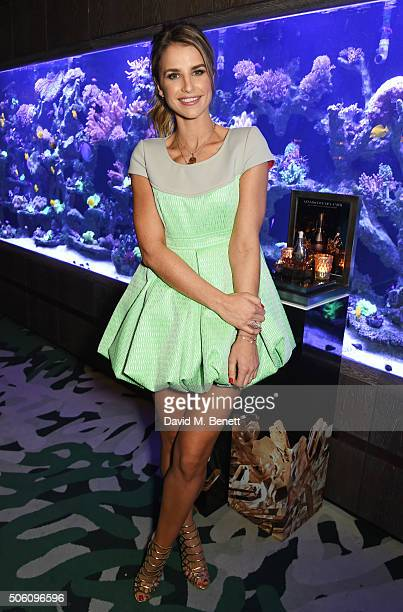 Vogue Williams attends a private dinner hosted by Creme de la Mer to celebrate the launch of Genaissance de la Mer the Serum Essence available...