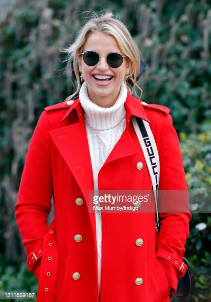 Vogue Williams attends day 2 'Ladies Day' of the Cheltenham Festival 2020 at Cheltenham Racecourse on March 11 2020 in Cheltenham England