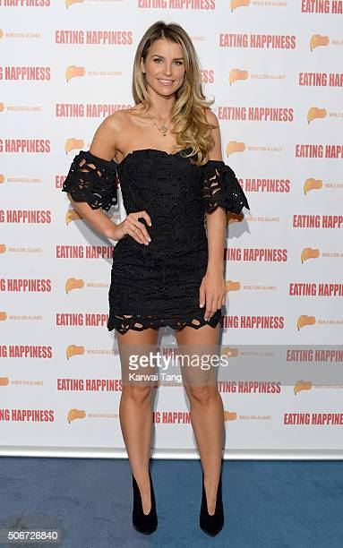 Vogue Williams attends the Eating Happiness VIP screening at the Mondrian Hotel on January 25 2016 in London England
