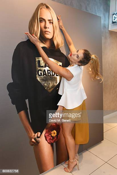 Vogue Williams attends the launch of the Lady Garden x Topshop collection in support of the Gynaecological Cancer Fund at Topshop Oxford Circus on...