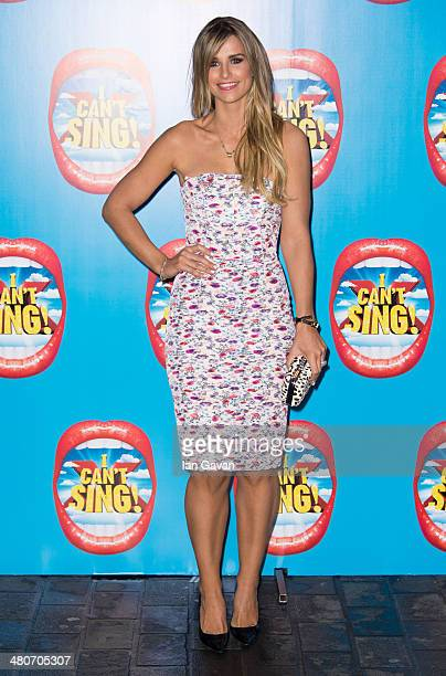Vogue Williams attends the press night of 'I Can't Sing The X Factor Musical' at London Palladium on March 26 2014 in London England