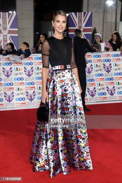 Vogue Williams attends the Pride Of Britain Awards 2019 at The Grosvenor House Hotel on October 28 2019 in London England