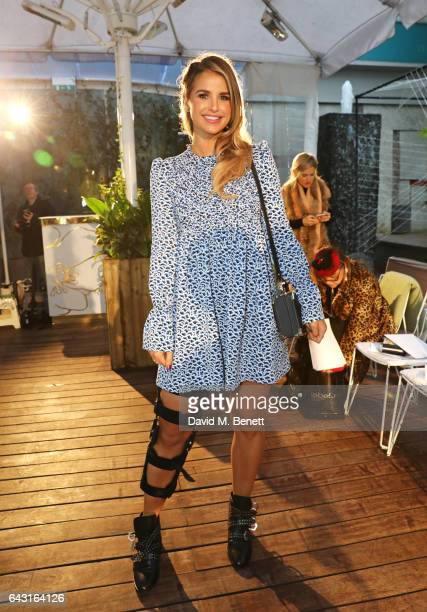 Vogue Williams attends the Vin Omi show during the London Fashion Week February 2017 collections on February 20 2017 in London England