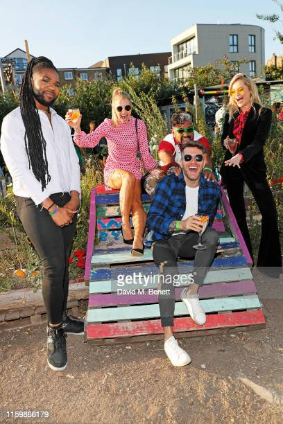MNEK Vogue Williams Azim Majid Laura Withmore and Joel Dommett attend the Smirnoff Infusions Pick Your Own launch party at the Nomadic Community...