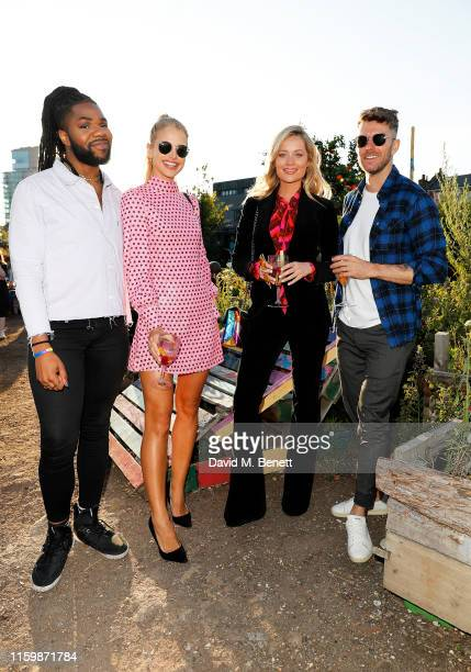 MNEK Vogue Williams Laura Withmore and Joel Dommett attend the Smirnoff Infusions Pick Your Own launch party at the Nomadic Community Gardens on July...