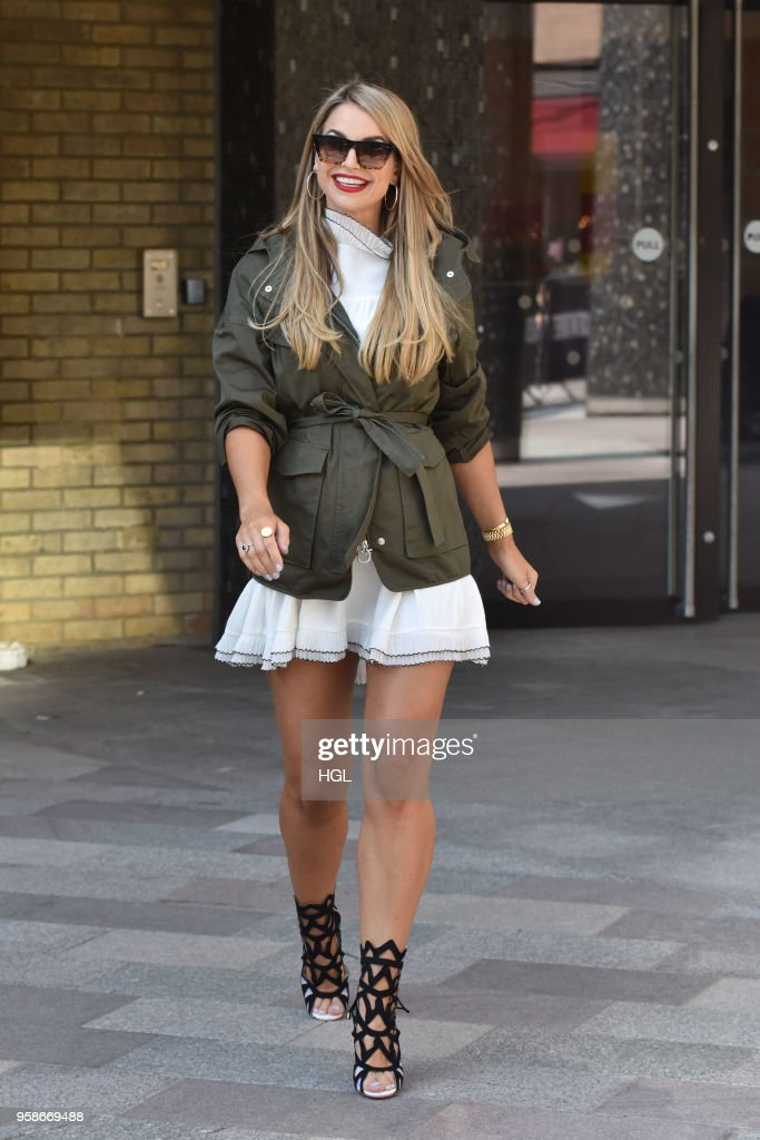 Vogue Williams seen at the ITV Studios on May 15, 2018 in London, England.