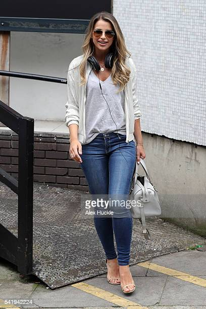 Vogue Williams seen leaving the ITV Studios after hosting 'Lose Women' on JUNE 21 2016 in London England