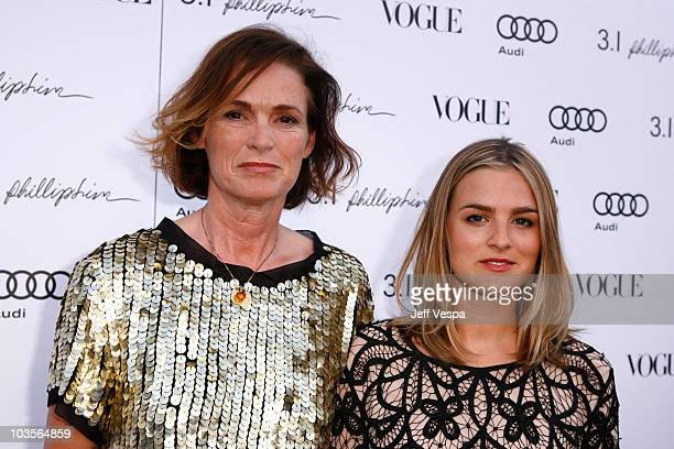 Vogue's senior west coast editor Lisa Love and daughter Natalie Love arrive at Vogue's 1 year anniversary party for 3.1 Phillip Lim's LA store held...