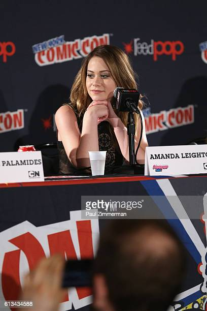 Voice actor Amanda Leighton speaks during the Cartoon Network 'The Powerpuff Girls' panel at New York Comic Con on October 8 2016 in New York City