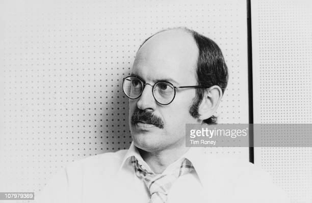 Voice actor and puppeteer Frank Oz in a BBC Radio studio during an appearance on 'Desert Island Discs' London 29th August 1981 Oz is best known for...