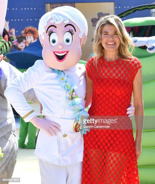 Voice actor Anke Engelke cruises into the 71st Cannes Film Festival for a colourful photocall with monster characters from the movie to launch a...