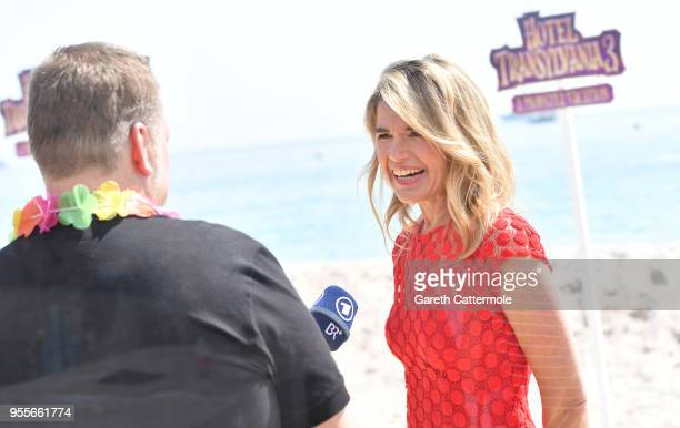 Voice actor Anke Engelke is interviewed as she cruises into the 71st Cannes Film Festival for a colourful photocall with monster characters from the...