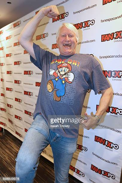 Voice actor Charles Martinet the voice of Mario from the Mario Bros games attends Fan Expo Canada at Metro Toronto Convention Centre on September 2...