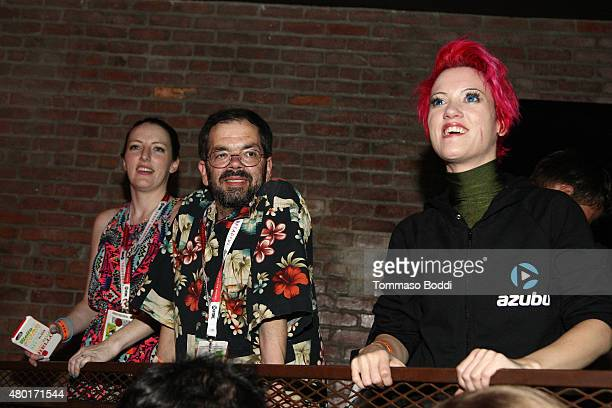 Voice actor Chris Ayres attends the Dragon Ball Z Resurrection 'F' San Diego Comic Con opening night VIP party held at Whiskey Girl on July 9 2015 in...