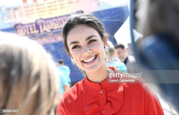 Voice actor Janina Uhse is interviewed as she cruises into the 71st Cannes Film Festival for a colourful photocall with monster characters from the...