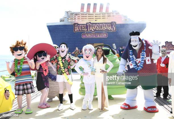 Voice actor Raya Abirached cruises into the 71st Cannes Film Festival for a colourful photocall with monster characters from the movie to launch a...