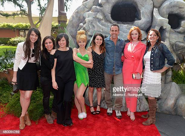 Voice actors Angela Bartys and Pamela Adlon director Peggy Holmes Tinker Bell voice actors Mae Whitman Carlos Ponce and Christina Hendricks and...