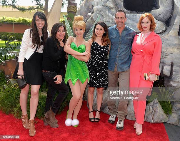 Voice actors Angela Bartys and Pamela Adlon Tinker Bell voice actors Mae Whitman Carlos Ponce and Christina Hendricks attend Disney's 'The Pirate...