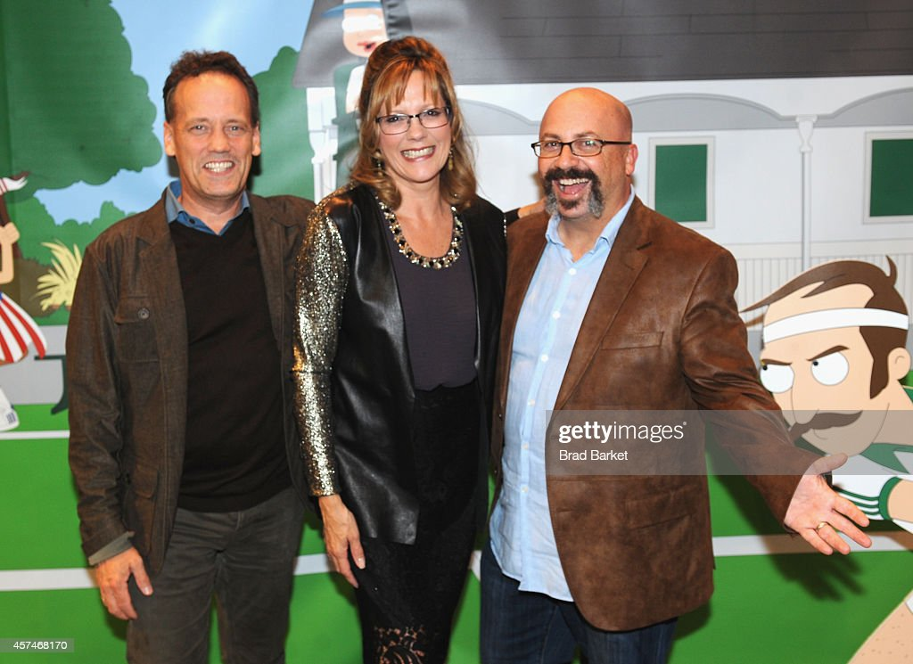 Voice actors Dee Bradley Baker, Wendy Schaal, and executive producer Matt Weissman attend the American Dad Sneaker Launch at the Adidas Originals Store on October 18, 2014 in New York City. 25167_001_0091.JPG