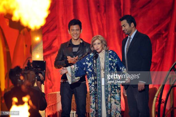 """VOice actress June Foray speaks onstage at Spike TV's """"SCREAM 2011"""" awards held at the Universal Studios Backlot on October 15, 2011 in Universal..."""
