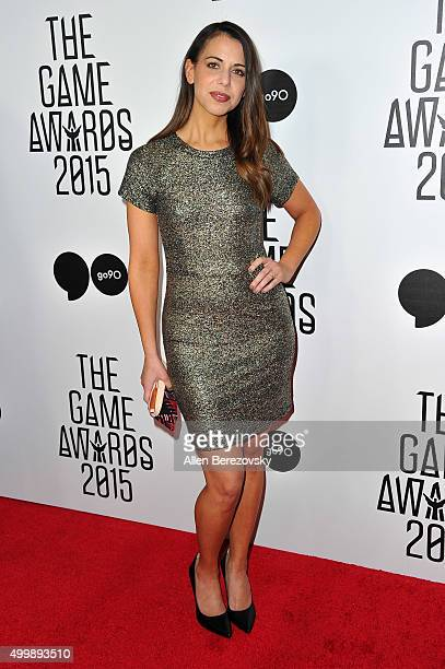 Voice actress Laura Bailey arrives at The Game Awards 2015 at Microsoft Theater on December 3, 2015 in Los Angeles, California.