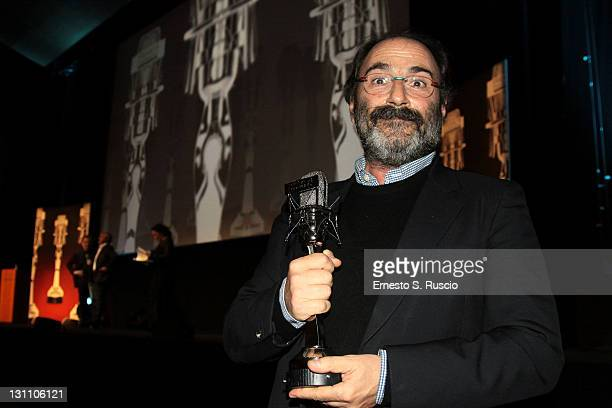 Voice dubbing artist Marco Mete wins the Dubbing Prize during the 6th International Rome Film Festival on November 1 2011 in Rome Italy