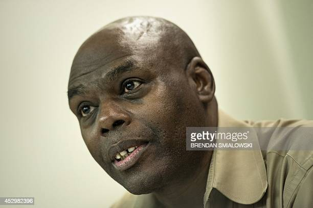 Voice of America host of Straight Talk Africa Shaka Ssali speaks during an event at the National Press Club July 31 2014 in Washington DC The...