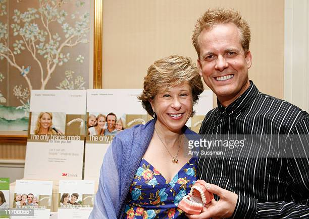 Voice of Lisa Simpson Yardley Smith and orthodontist R Bruce McFarlane at the Oh Canada Gift Suite at Peninsula Hotel on January 16 2010 in Beverly...
