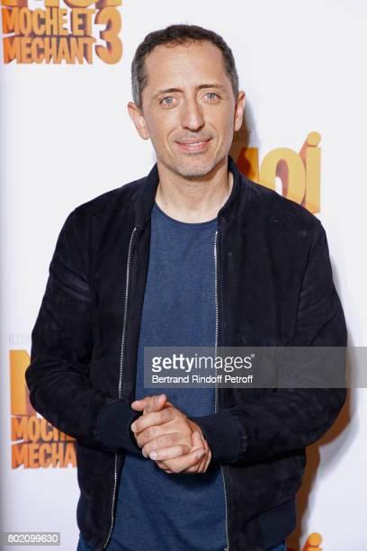 Voice of the movie Gad Elmaleh attends the Despicable Me Paris Premiere at Cinema Gaumont Marignan on June 27, 2017 in Paris, France.