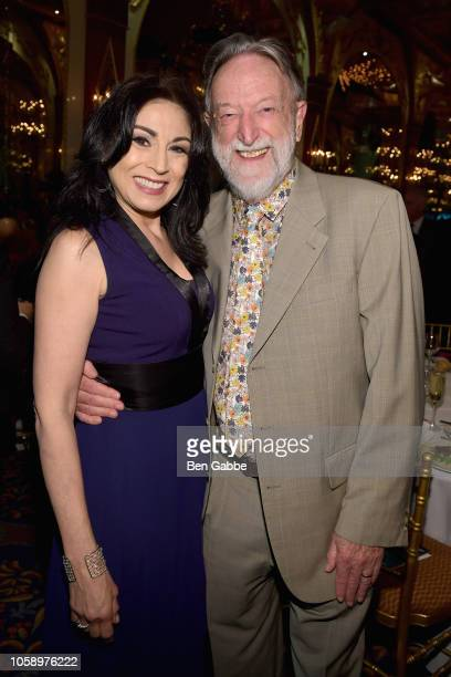 Voice over artist Valerie Smaldone and honoree Dr Malcolm Pike attend the 2018 Innovation Gala where Chemotherapy Foundation honors Actor Producer...