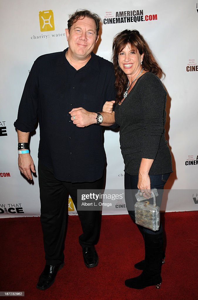 Voiceover Actors Fred Tatasciore and Lisa Schaffer arrive for the