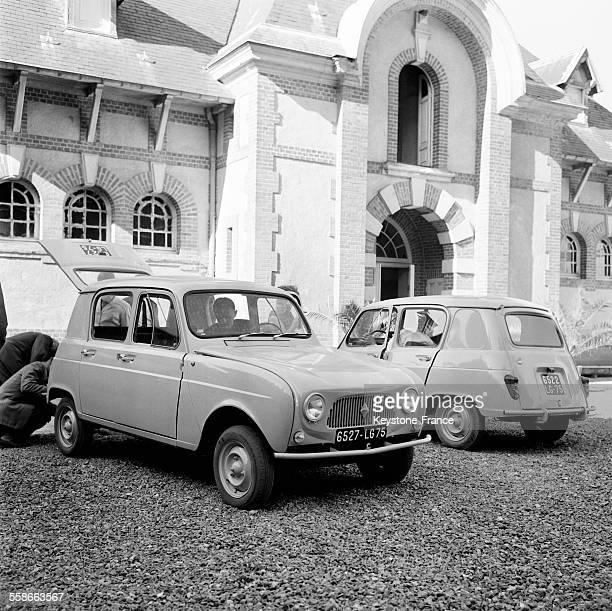 Voici la nouvelle Renault 4 présentée à Sonchamp France le 29 août 1961