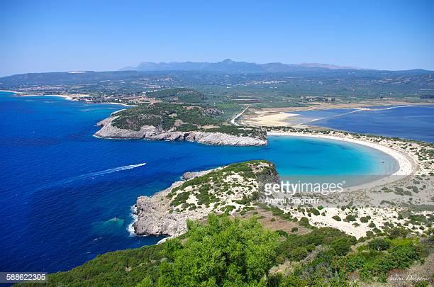 voidokilia, greece - peloponnese stock photos and pictures