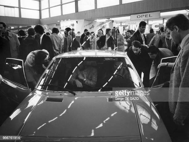 Voiture MatraSimca Bagheera exposée au salon de l'automobile à Paris en 1973 France
