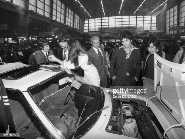 Voiture MatraSimca Bagheera exposée au salon de l'automobile à Paris en 1976 France