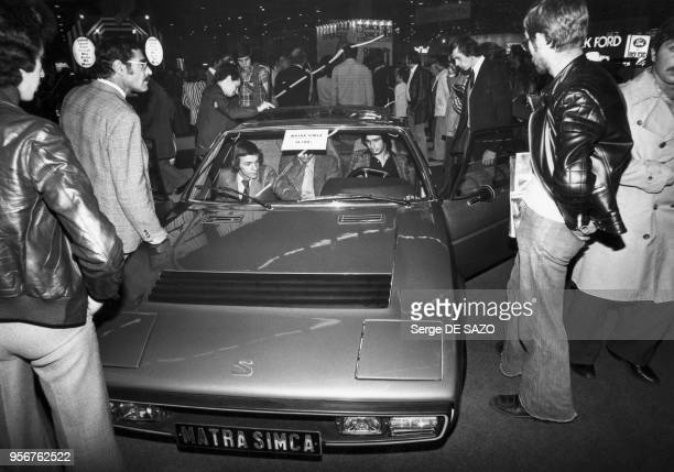 Voiture MatraSimca Bagheera exposée au salon de l'automobile à Paris en 1975 France