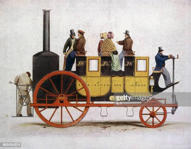 """Voiture à vapeur de Hill dans le magazine l'""""Illustration"""" du 6 janvier 1934 en France."""