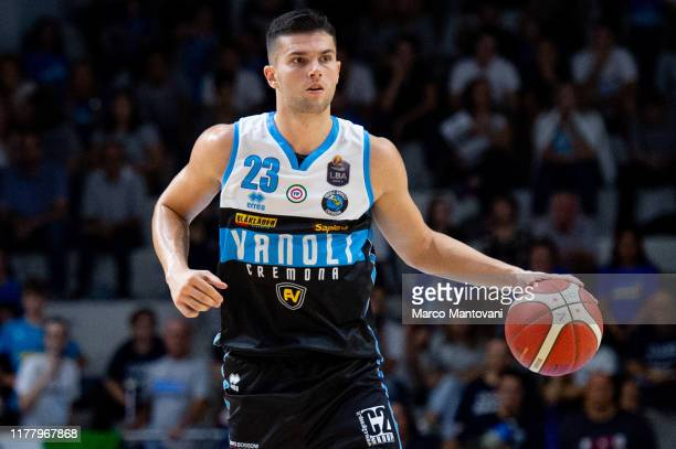 Vojislav Stojanovic of Vanoli in action during the LBA LegaBasket of Serie A match between Vanoli Cremona and De' Longhi Treviso at Pala Radi on...