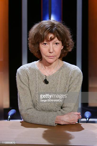 'Vol De Nuit' Tv Show In Paris France On January 11 2007 Anne Wiazemsky