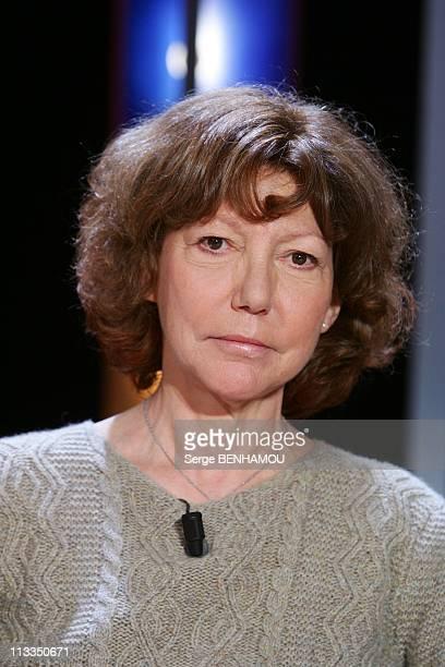 'Vol De Nuit' Tv Show In Paris France On January 11 2007 Anne Wiazemsky