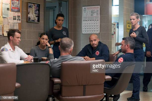 FIRE 'A Volatile Mixture' Episode 705 Pictured Jesse Spencer as Matthew Casey Miranda Rae Mayo as Stella Kidd Annie Ilonzeh as Emily Foster Joe...
