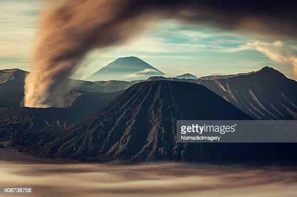 Volcanic ash cloud a surrealist picture