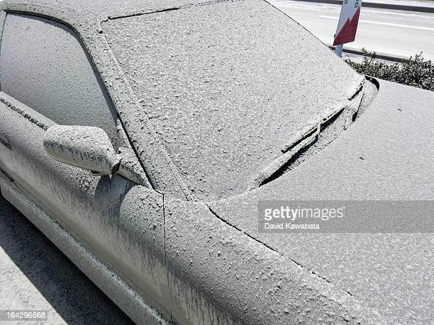 Volcanic Ash Covered Car