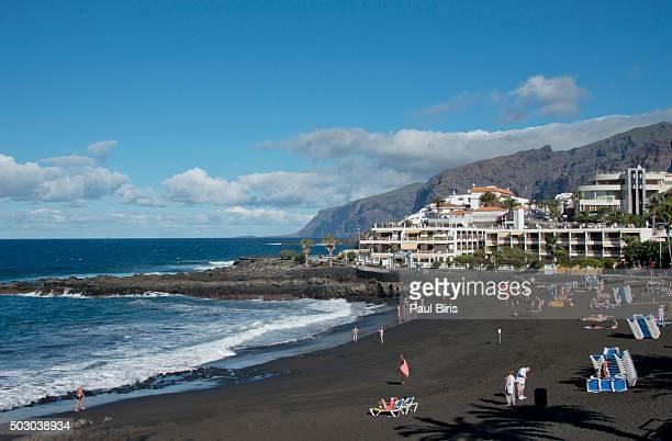 Volcanic beach in Tenerife, Playa de la Arena, Puerto Santiago