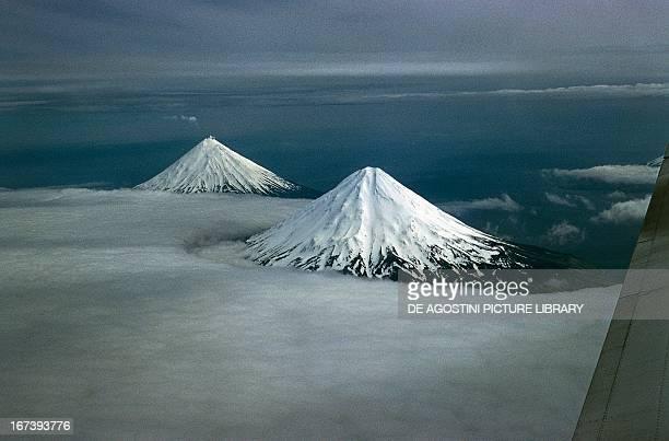 Volcanic cones Aleutian Islands Alaska United States