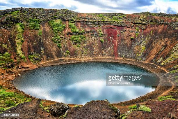 Volcanic crater, crater lake Kerid, Southern Region, Iceland